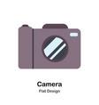 camera flat vector image vector image