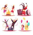 carnival 2x2 design concept vector image vector image
