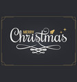 christmas vintage lettering with merry xmas sign vector image vector image