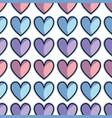 color cute heart love icon background vector image vector image