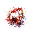 color of a horse vector image