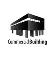 commercial building logo concept design symbol vector image vector image
