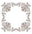 decorative square frame vintage style for vector image vector image