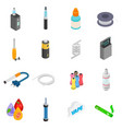 Electronic cigarettes isometric 3d icons vector image vector image