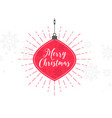 elegant merry christmas decorative ball ball vector image vector image