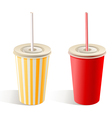 fast food paper cups vector image vector image