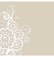 Flower ornament background vector image