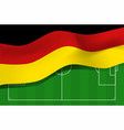 germany flag on a football field vector image vector image