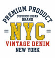 graphic design premium product nyc for t-shirts vector image vector image