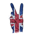 hand gesture of victory flag england britain uk vector image vector image