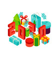 happy new year 2020 concept vector image vector image