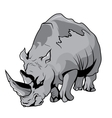 High Quality Rhinoceros Cartoon vector image vector image