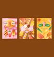 ice cream shop banner vector image