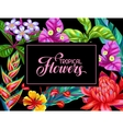 Invitation card with Thailand flowers Tropical vector image vector image