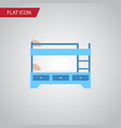 isolated hostel flat icon bunk bed element vector image