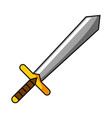 isolated medieval sword design vector image