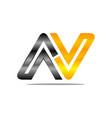 letter av modern vector image vector image
