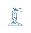 lighthouse on the shore line icon concept vector image vector image