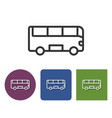 line icon of bus in different variants vector image