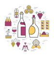 linear concept of white and red wine vector image vector image