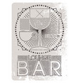 lounge bar menu grunge geometric pattern design vector image