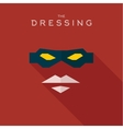 Mask Dressing Hero superhero flat style icon vector image vector image