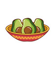 mexican food traditional vector image vector image