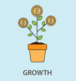 money tree growth concept in flat style vector image