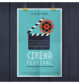 movie cinema festival poster flat design modern vector image vector image