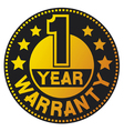 One year warranty vector image