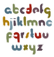 painted alphabet letters set hand-drawn colorful vector image vector image