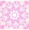 Pink ornate lacy seamless pattern vector image vector image