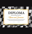 race winner diploma certificate template vector image vector image