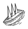 sail boat nice icon doodle hand drawn or outline vector image
