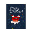 santa claus in red costume vector image vector image