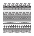 Seamless greek pattern set vector image