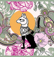 seamless pattern with egyptian cat bastet vector image