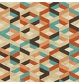 Seamless retro geometric pattern vector image vector image