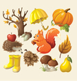 set elements and items that represent autumn vector image