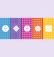 set of seamless geometric patterns cloth vector image vector image
