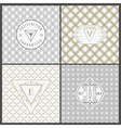 Set of Vintage Artdeco Cards vector image vector image