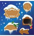 Set of Wooden frames design elements for Merry Chr vector image vector image