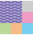 set wavy stream seamless pattern vector image