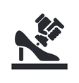 shoe manufacturing vector image vector image