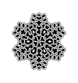 Snowflake simple icon isolated on white background vector image vector image