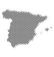 spain map population demographics vector image