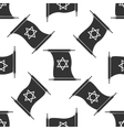 Star of David from scroll icon pattern on white vector image