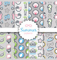 summer seamless pattern vacation vector image