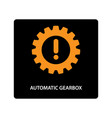 warning dashboard car icon automatic gearbox vector image vector image