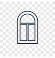 window concept linear icon isolated on vector image